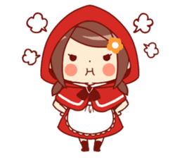 Little Red Riding Hood &  Wolf sticker #9105225