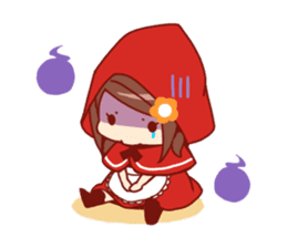 Little Red Riding Hood &  Wolf sticker #9105226