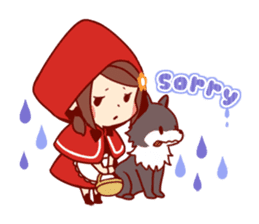Little Red Riding Hood &  Wolf sticker #9105227