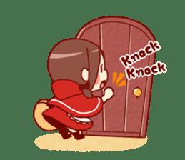 Little Red Riding Hood &  Wolf sticker #9105228