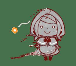 Little Red Riding Hood &  Wolf sticker #9105230