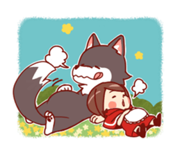 Little Red Riding Hood &  Wolf sticker #9105235