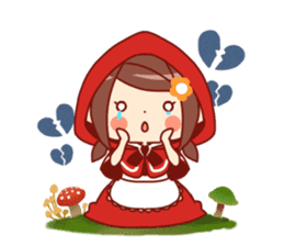 Little Red Riding Hood &  Wolf sticker #9105236