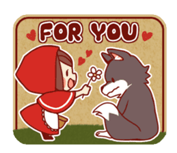Little Red Riding Hood &  Wolf sticker #9105238