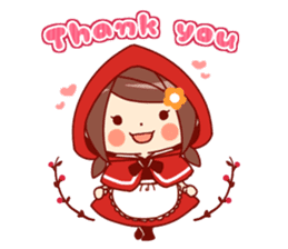 Little Red Riding Hood &  Wolf sticker #9105239
