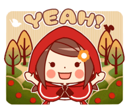 Little Red Riding Hood &  Wolf sticker #9105240
