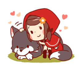 Little Red Riding Hood &  Wolf sticker #9105241