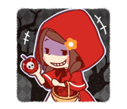 Little Red Riding Hood &  Wolf sticker #9105242