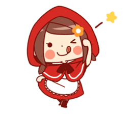 Little Red Riding Hood &  Wolf sticker #9105243