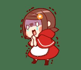 Little Red Riding Hood &  Wolf sticker #9105244