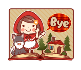 Little Red Riding Hood &  Wolf sticker #9105247