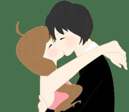 mari&mera romantic couple sticker #9113008