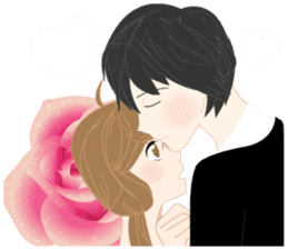 mari&mera romantic couple sticker #9113015