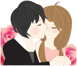 mari&mera romantic couple sticker #9113017