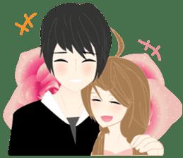 mari&mera romantic couple sticker #9113030