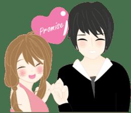 mari&mera romantic couple sticker #9113040