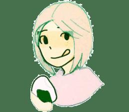 onigiri girls sticker #9115609