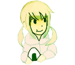onigiri girls sticker #9115614