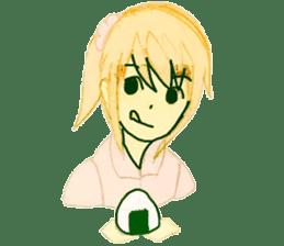 onigiri girls sticker #9115616