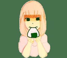 onigiri girls sticker #9115619