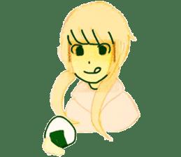 onigiri girls sticker #9115620