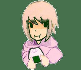 onigiri girls sticker #9115627