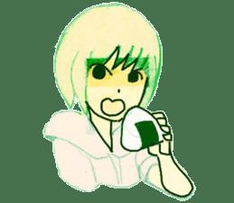 onigiri girls sticker #9115628