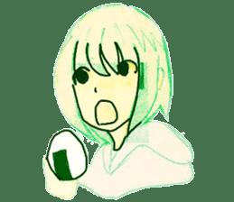 onigiri girls sticker #9115629