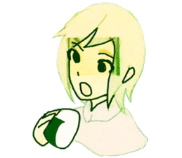 onigiri girls sticker #9115630