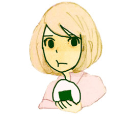 onigiri girls sticker #9115631