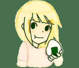 onigiri girls sticker #9115634
