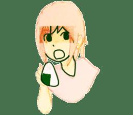 onigiri girls sticker #9115635