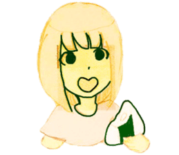 onigiri girls sticker #9115636