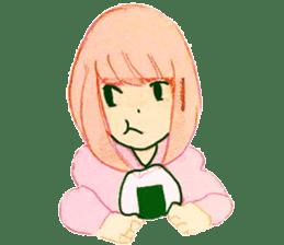 onigiri girls sticker #9115639
