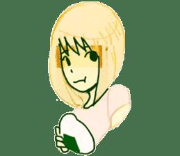 onigiri girls sticker #9115646