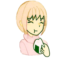 onigiri girls sticker #9115647
