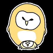 สติ๊กเกอร์ไลน์ owl sticker 2
