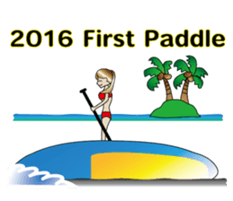 Stand Up Paddle(SUP)Life2(Xmas &NewYear) sticker #9121267