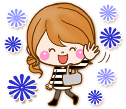 Adult girl [usable] Honorific expression sticker #9121930