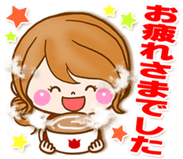 Adult girl [usable] Honorific expression sticker #9121939