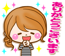 Adult girl [usable] Honorific expression sticker #9121940