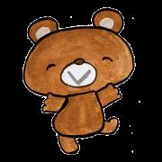 สติ๊กเกอร์ไลน์ Bear Kumakuma chan