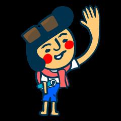 Habit boy stickers No.6 (Gyoukai Yougo)