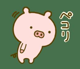 Pig Cute 4 sticker #9124615