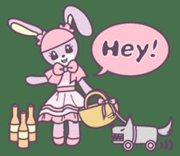 Rabbit's puppet theater sticker #9129132
