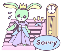 Rabbit's puppet theater sticker #9129134