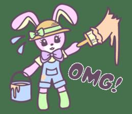 Rabbit's puppet theater sticker #9129137
