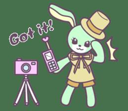 Rabbit's puppet theater sticker #9129138