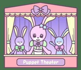 Rabbit's puppet theater sticker #9129159