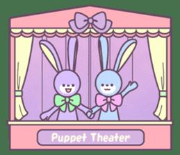 Rabbit's puppet theater sticker #9129166